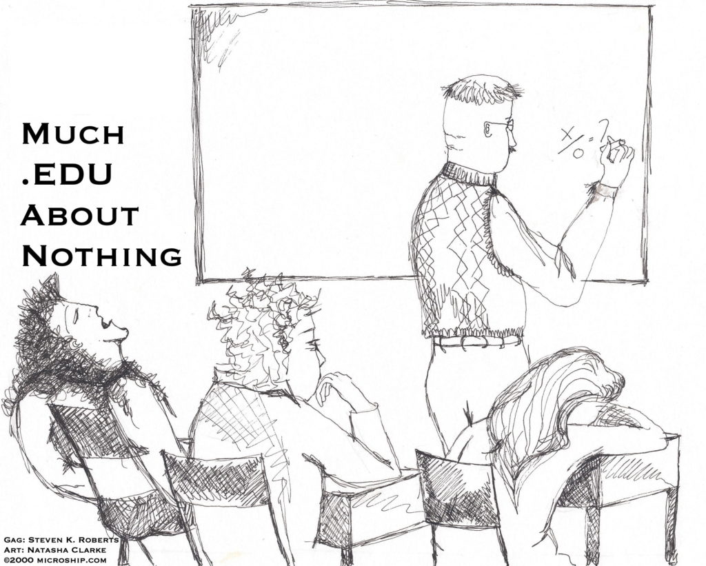 Much .edu about nothing cartoon