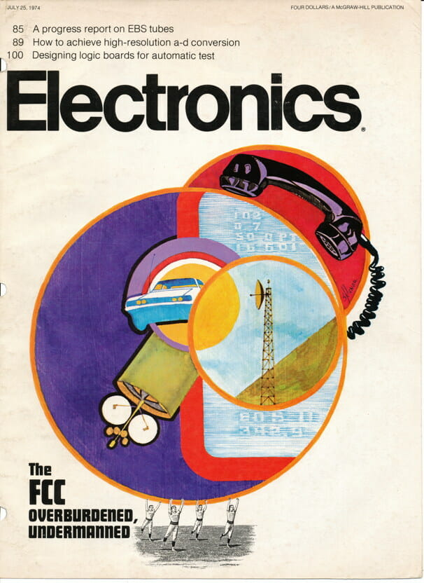 Electronics Magazine cover, July 25, 1974