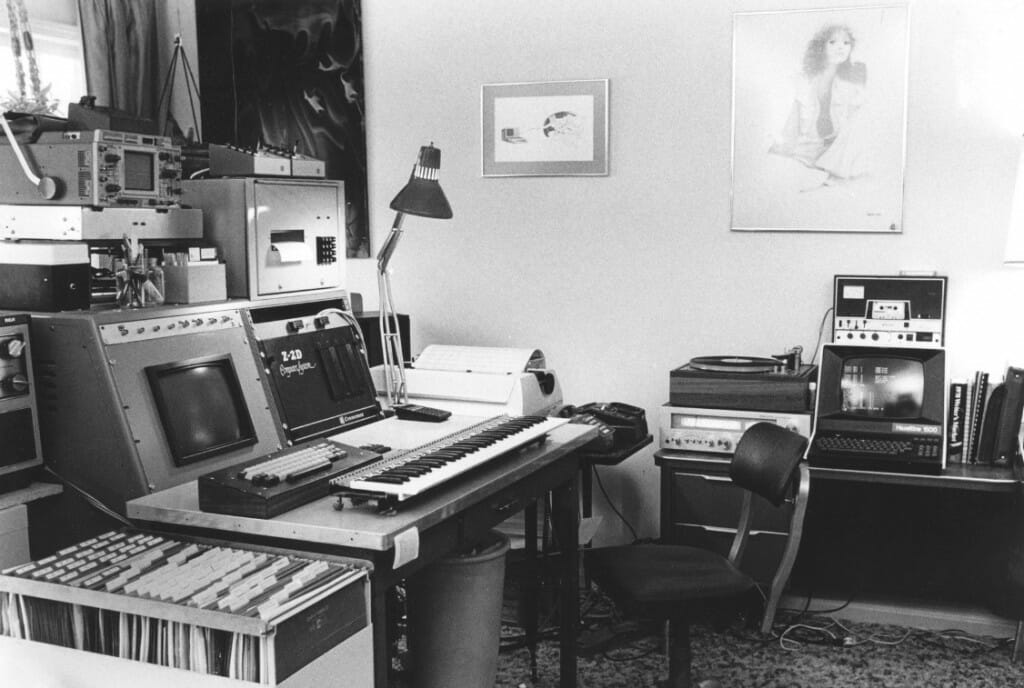 Steve Roberts home office in 1978