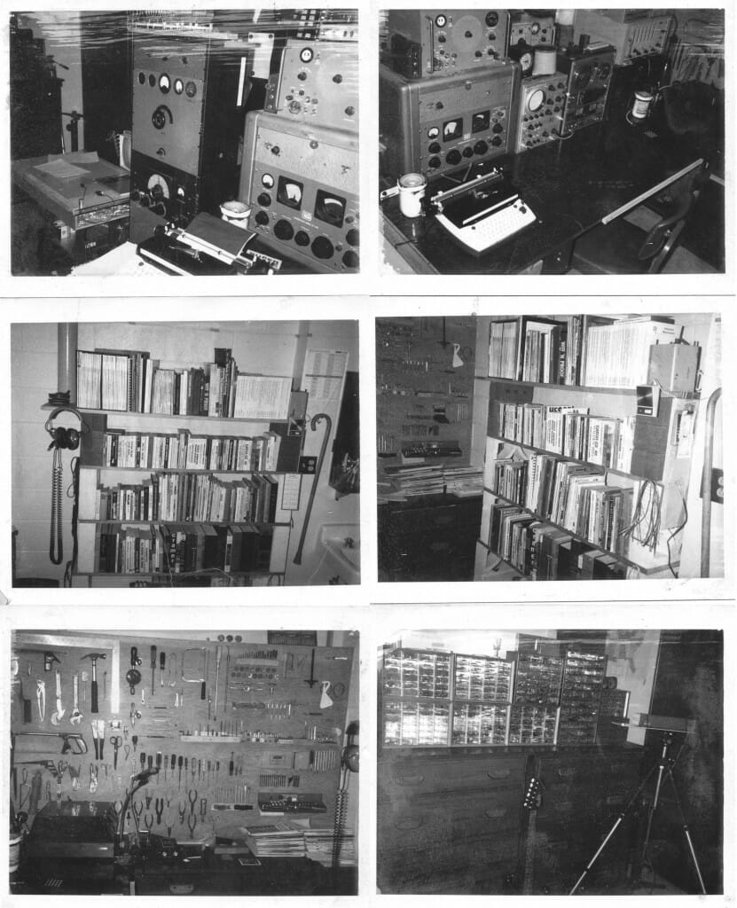 Pushing the envelope of an Air Force dorm room in 1972 (click for larger version)