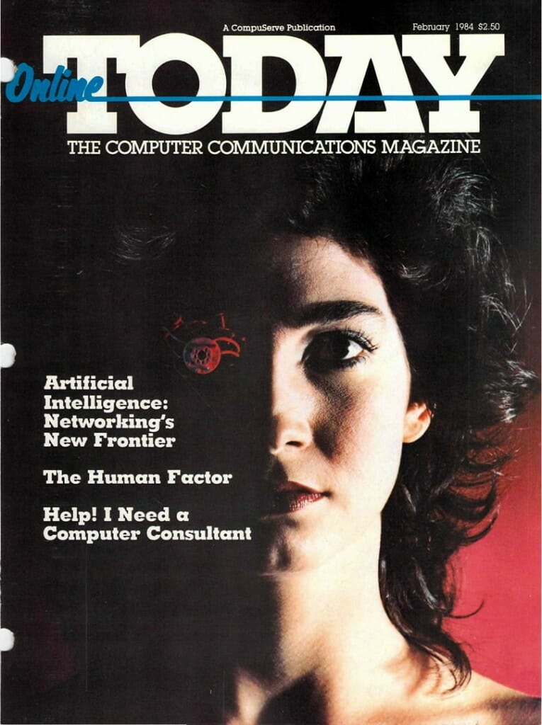 Online Today Feb 1984 cover - AI Cover Story