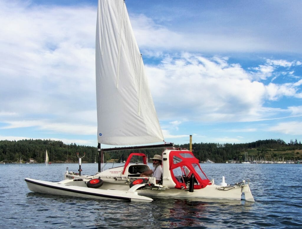 Microship under sail 2013