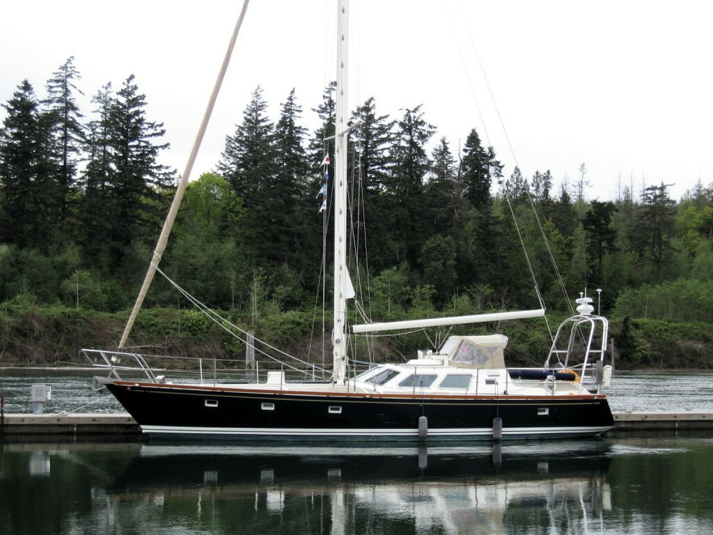 Nomadness at Swinomish guest dock