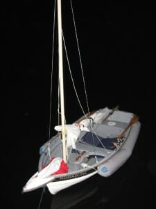 Gig Harbor Navigator with sail rig