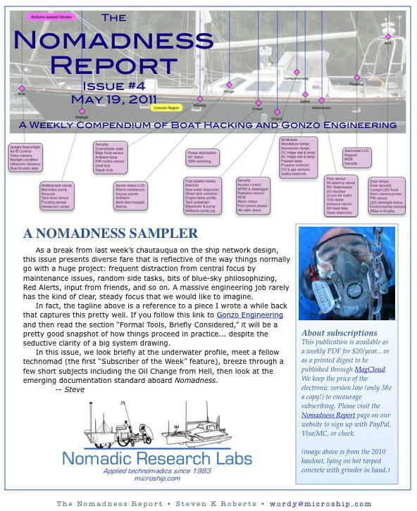 Front page of Nomadness Report #4