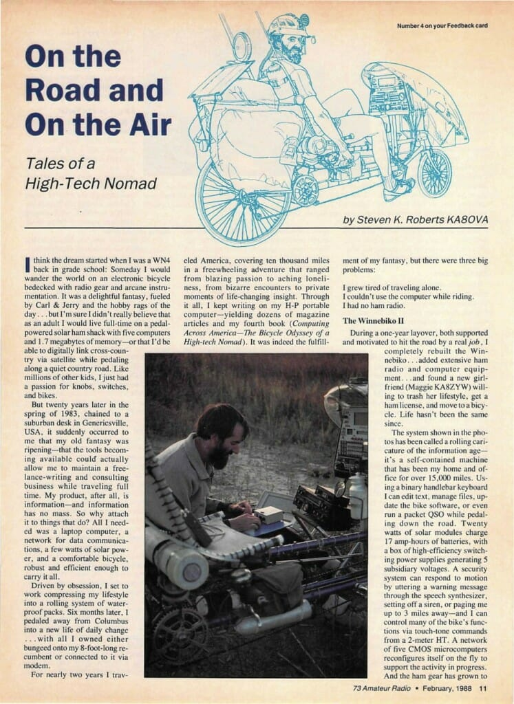 On the Road and On the Air - page 1