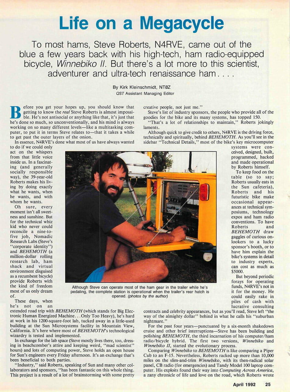 Life on a Megacycle - QST - Nomadic Research Labs