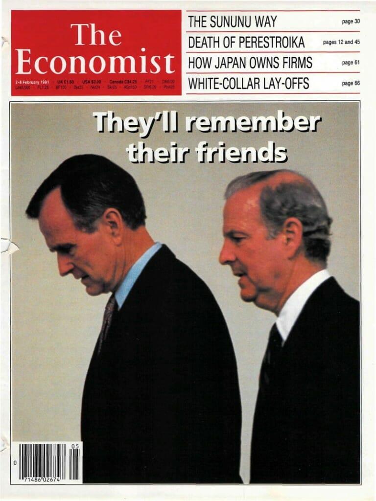 Economist Magazine cover, Feb 2, 1991