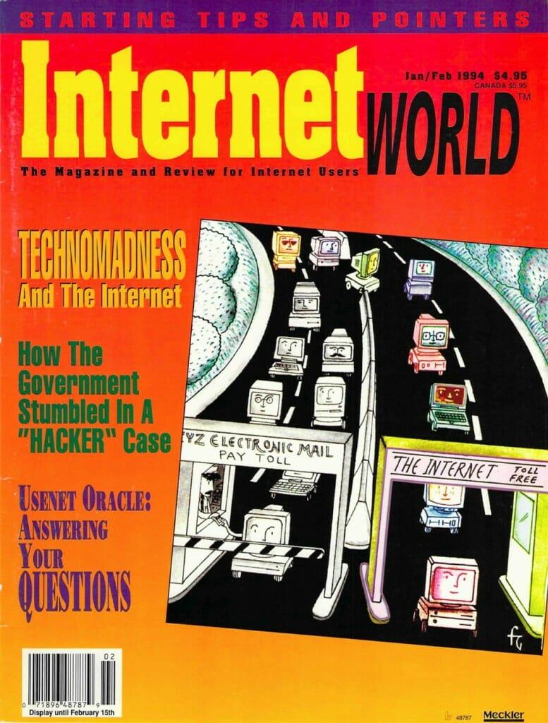 Internet World, Jan/Feb 1994, cover