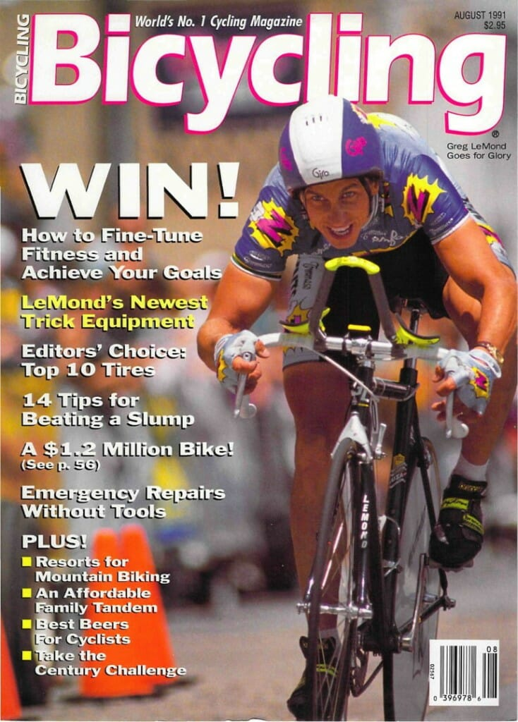 Bicycling Magazine cover - August 1991