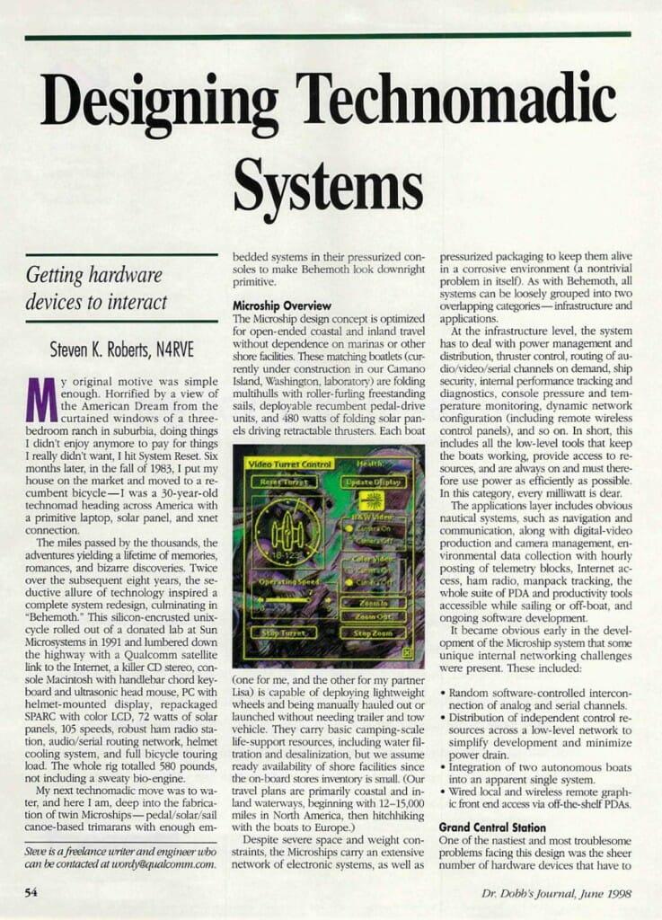 Designing Technomadic Systems - 1