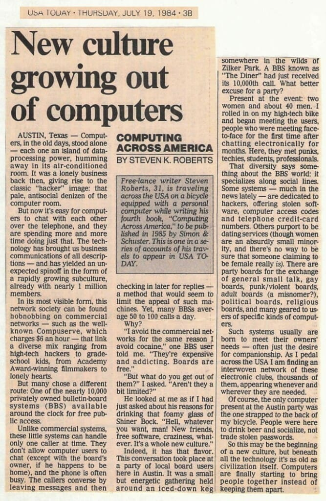 New Culture Growing Out of Computers