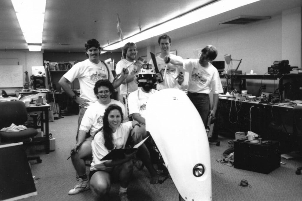 BEHEMOTH friends and volunteers in the Bikelab, circa 1991