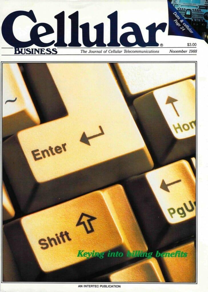 Cellular Business cover, Nov 1988