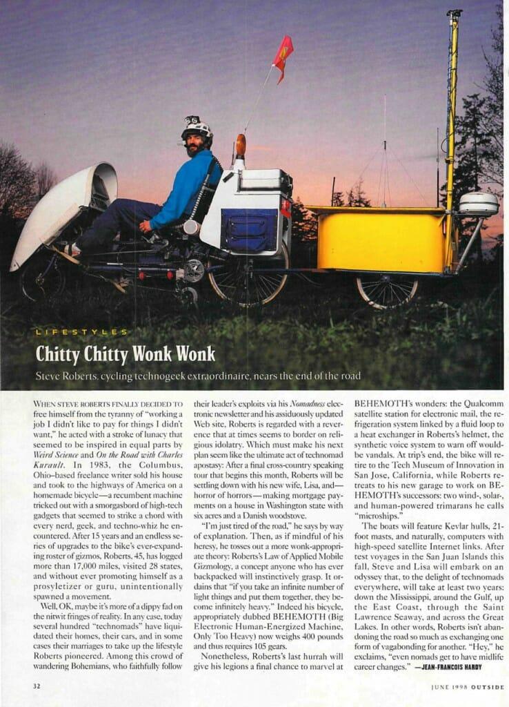 Chitty Chitty Wonk Wonk - Outside Magazine