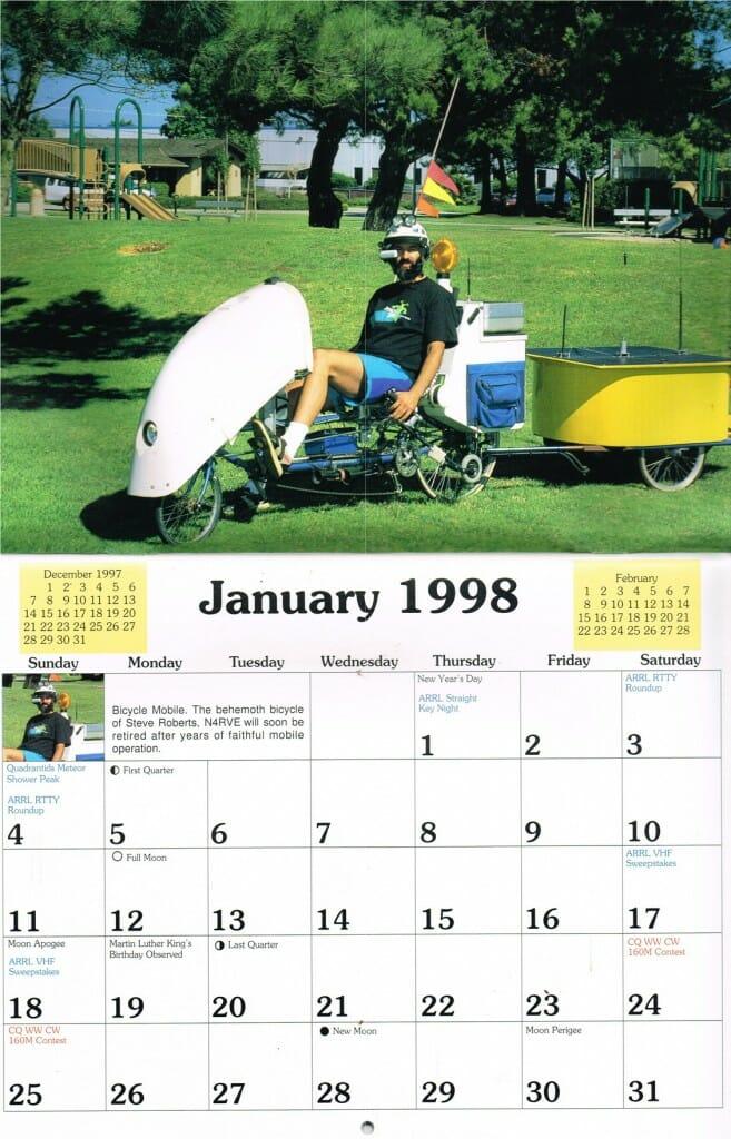 BEHEMOTH in the 1998 CQ Amateur Radio Calendar