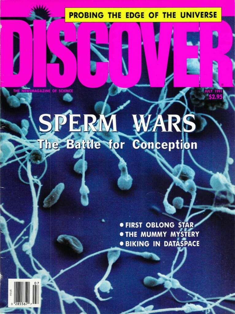Discover Magaine cover, July 1991