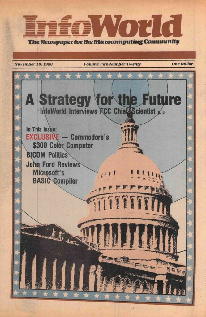 InfoWorld Nov 10, 1980 cover