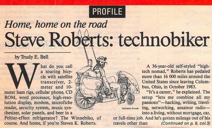 Steve Roberts: technobiker - 1