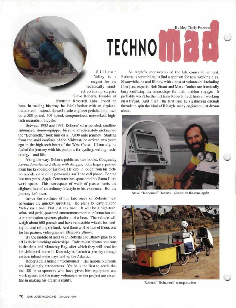 Technomad - San Jose Magazine