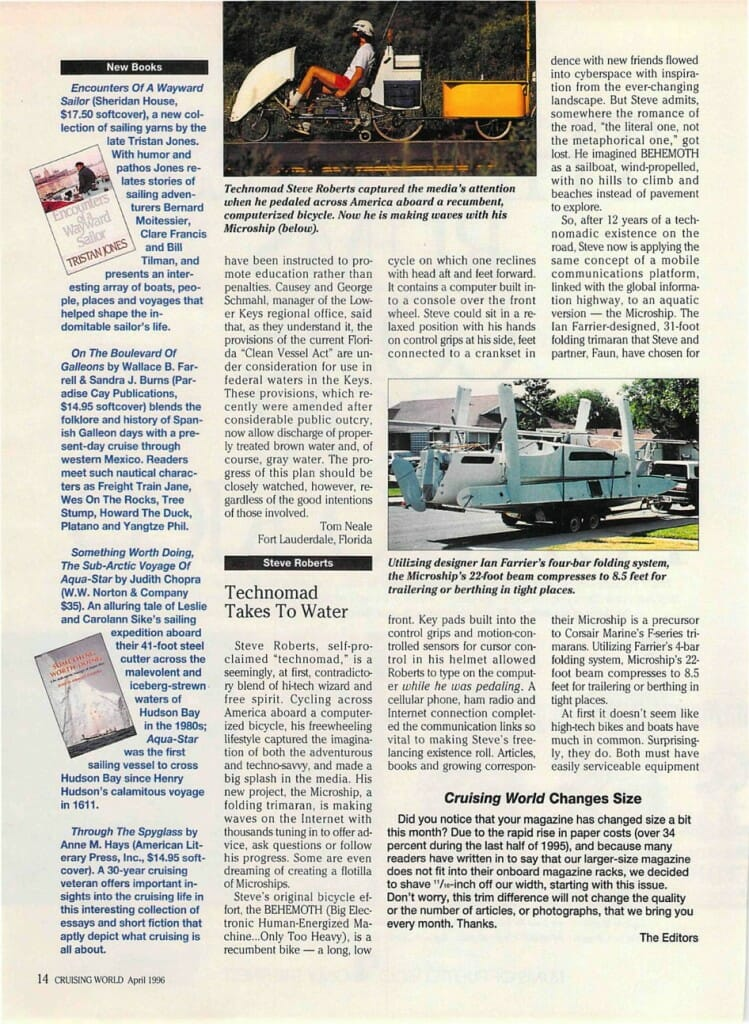 Technomad Takes to Water - Cruising World - page 1