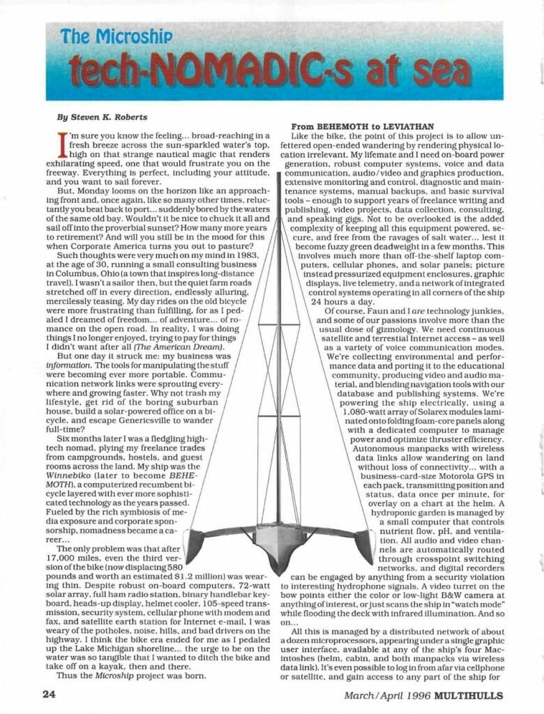 Technomadics at Sea - Multihulls Magazine - page 1
