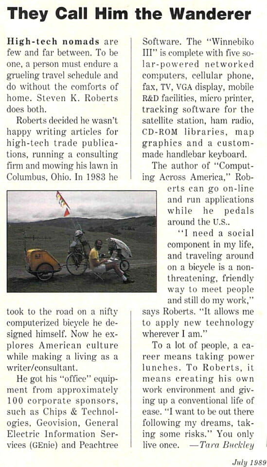 They Call Him the Wanderer - Marketing Computers July 1989