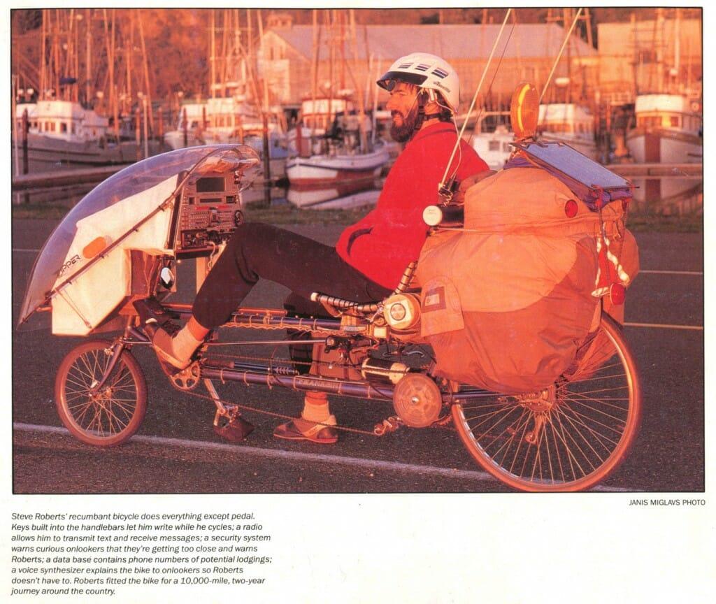 Winnebiko II in the Bicycling Magazine 1988 calendar