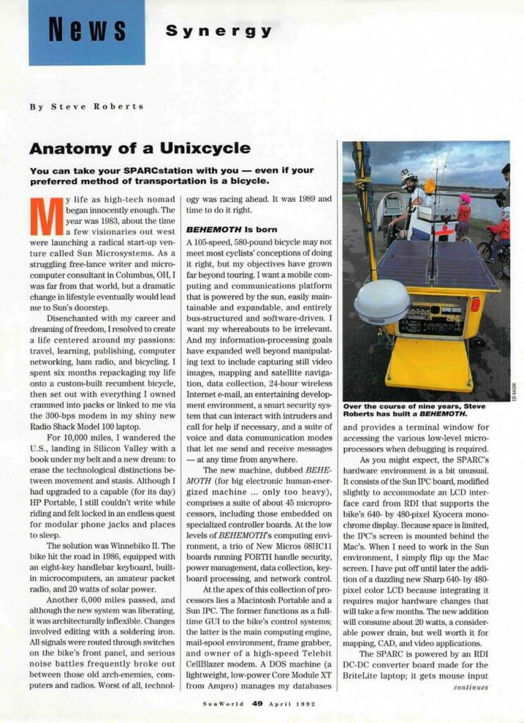 Anatomy of a Unixcycle - 1