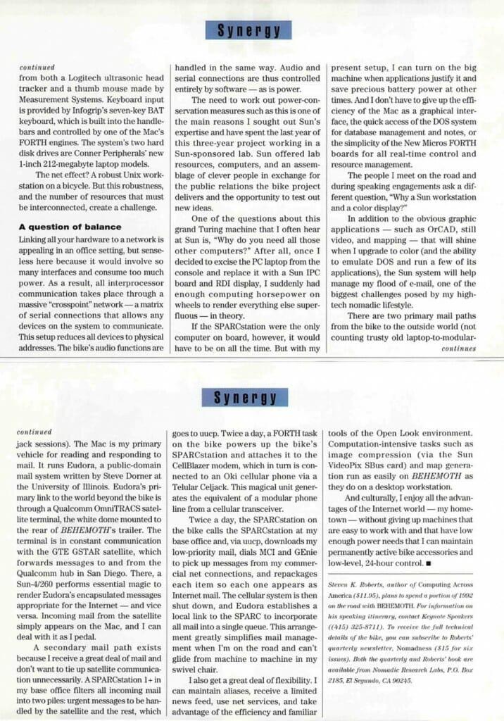 Anatomy of a Unixcycle - 2