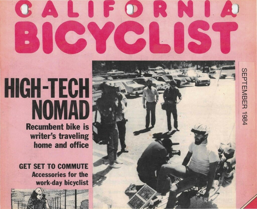 California Bicyclist Sept 84 cover