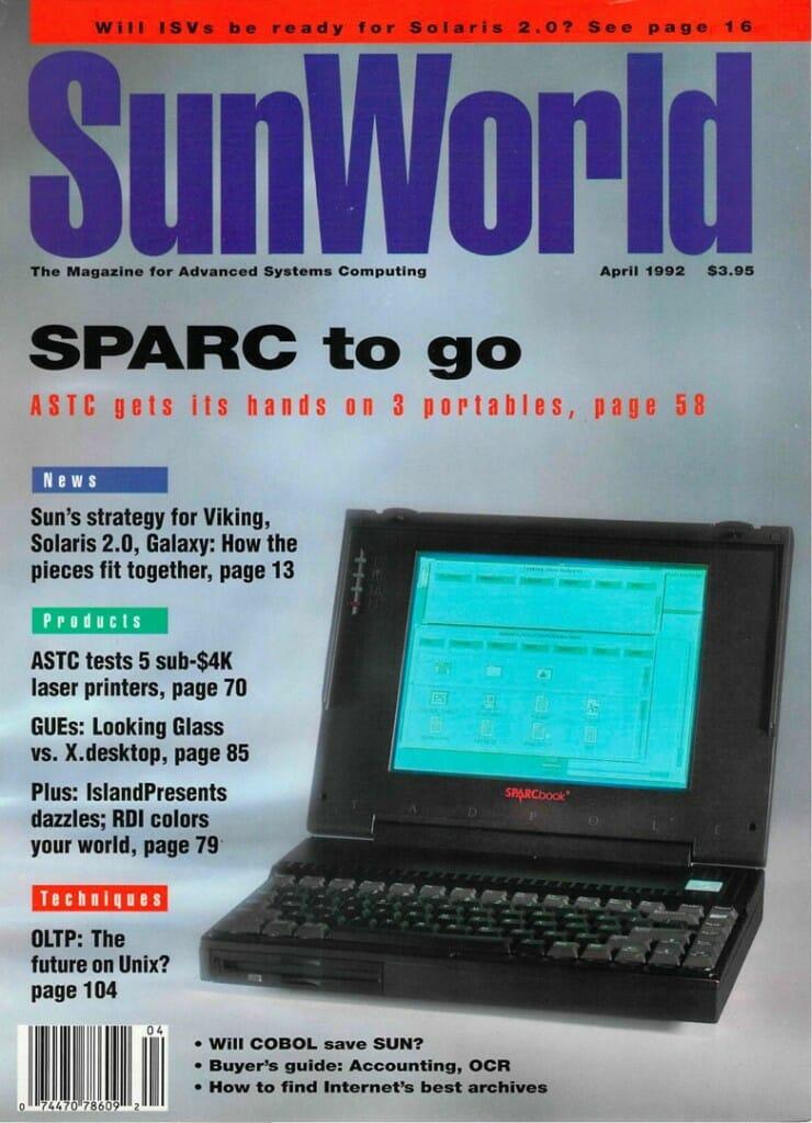 SunWorld April 1992 cover