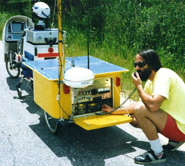 BEHEMOTH ham rig on the road - 1991
