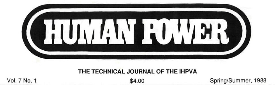 Human Power - IHPVA technical journal logo