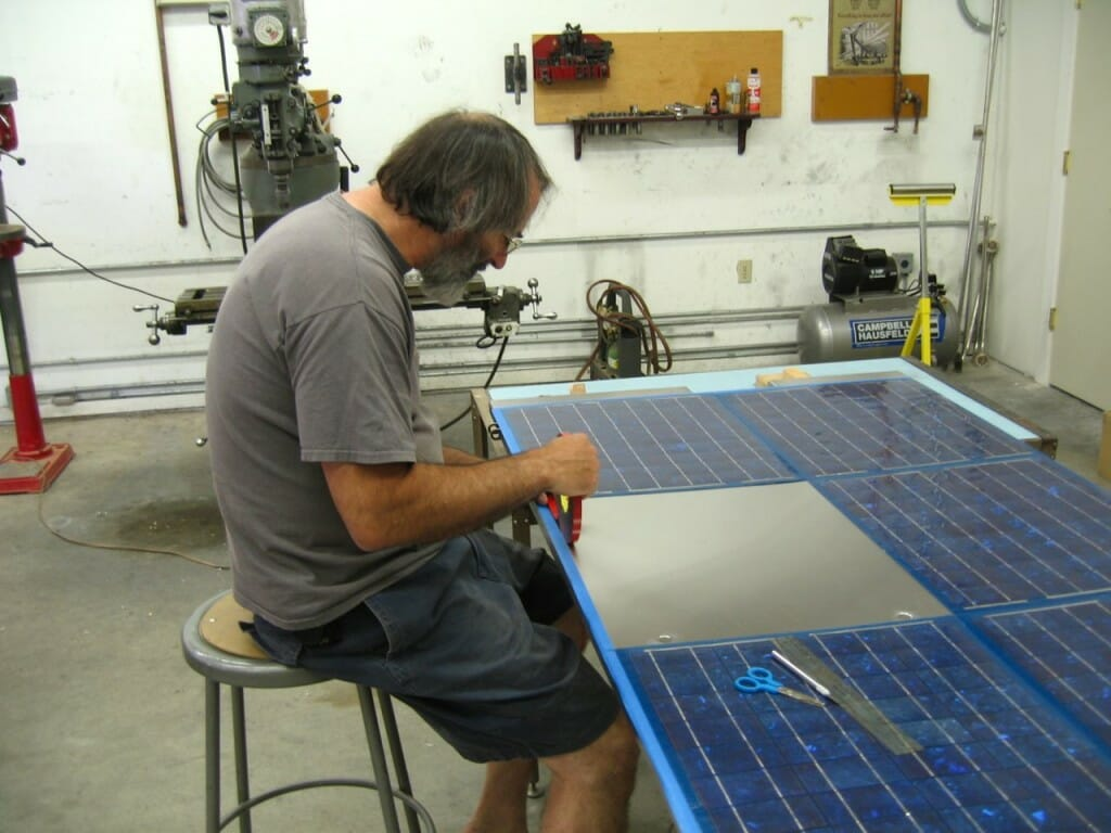 Boat Solar Array Installation Nomadic Research Labs