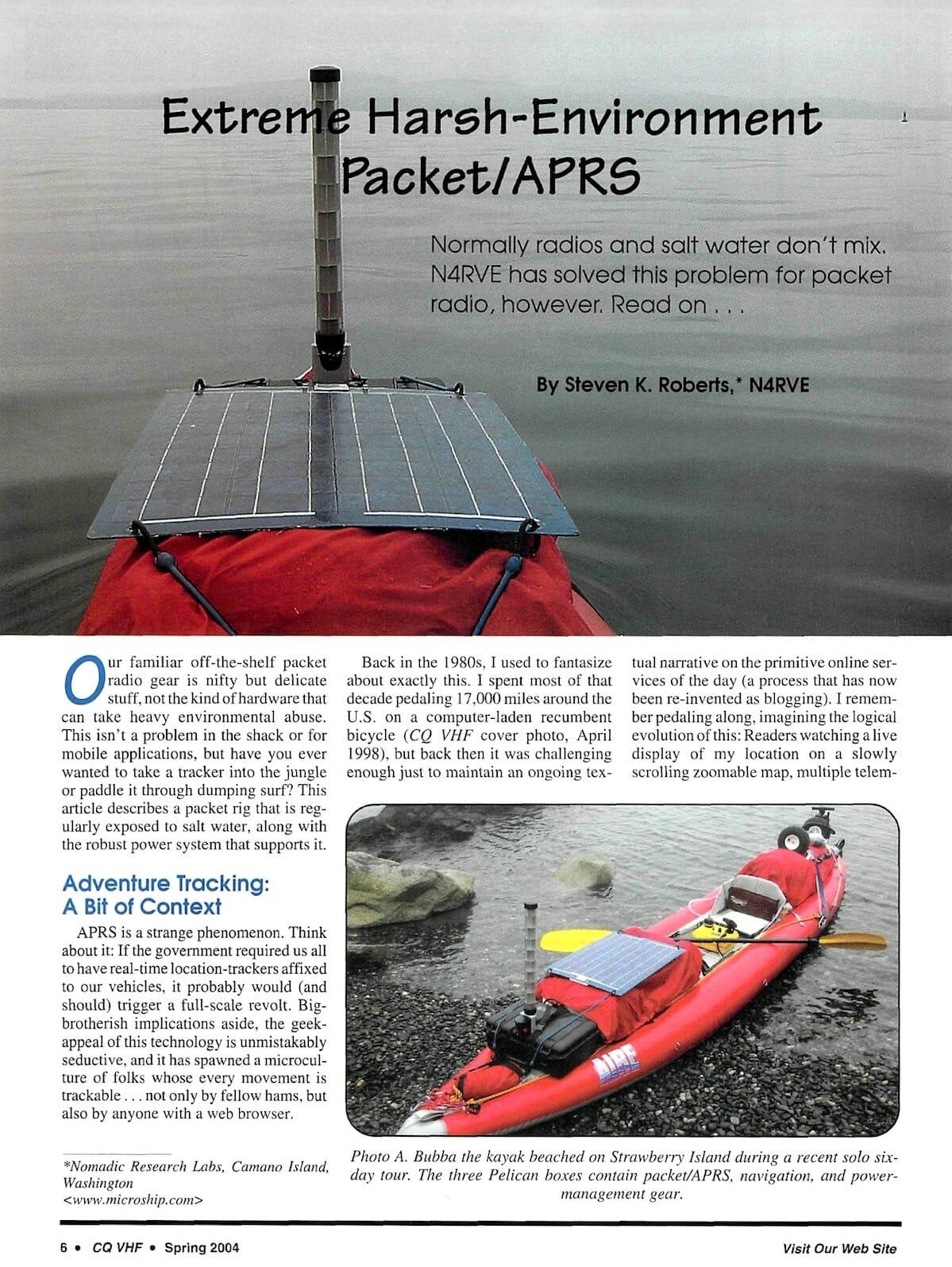 Extreme Harsh Environment Packet Aprs In Kayak Cq Vhf Nomadic Pelican Pedal Boat Wiring Diagram Back