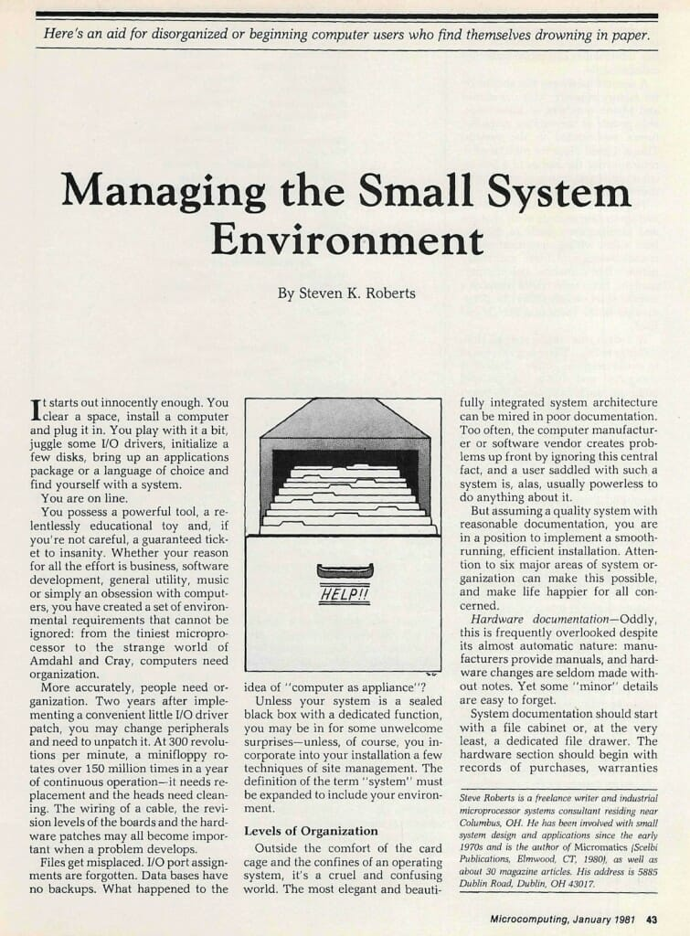 managing small system - 1