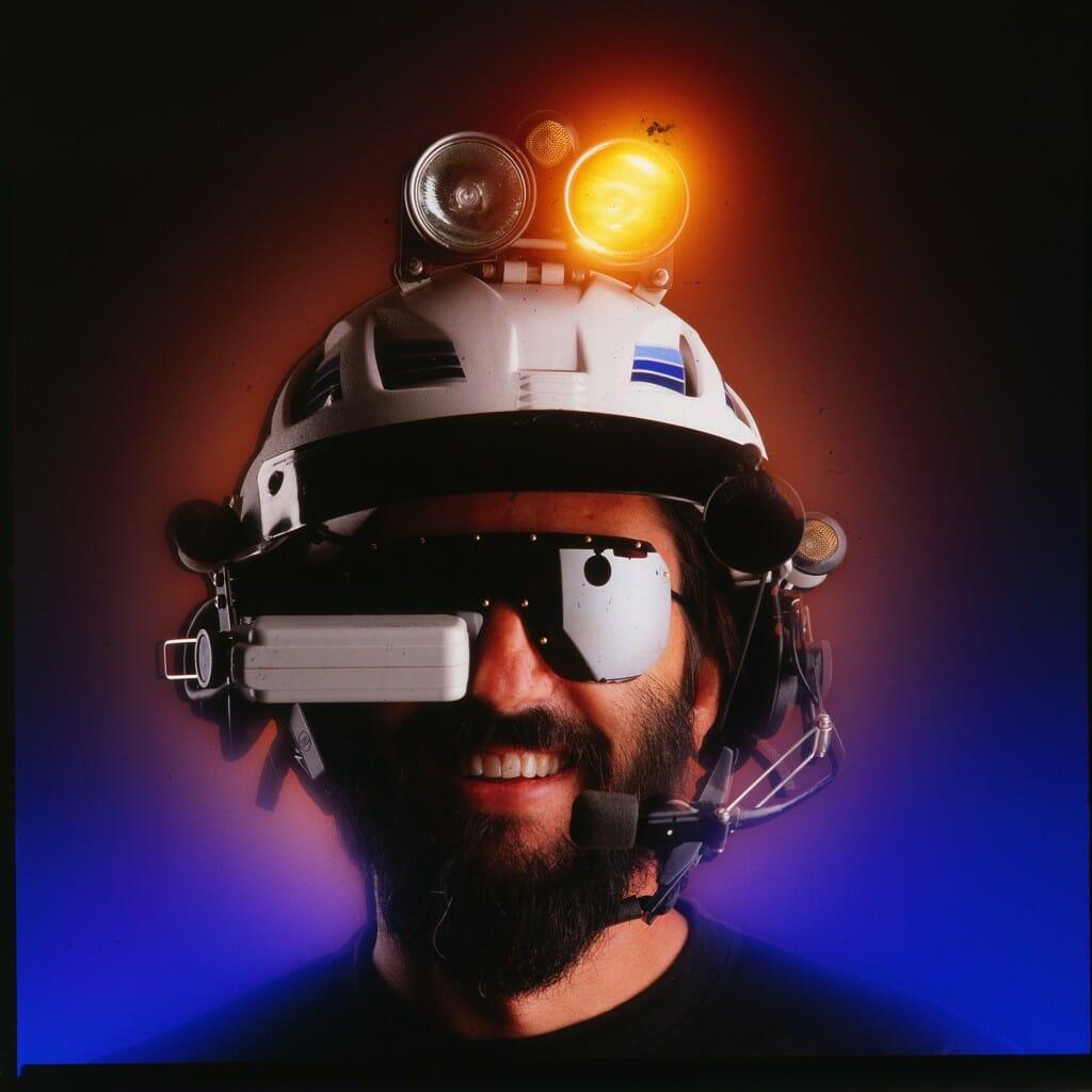 Steven K. Roberts with the BEHEMOTH helmet