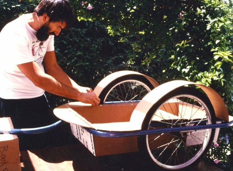 Cardboard trailer design