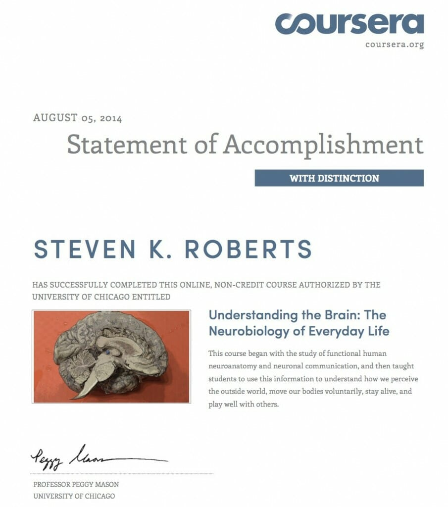 Coursera neurobio 2014