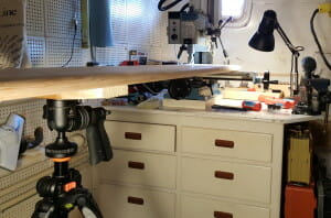Fixturing with a camera tripod