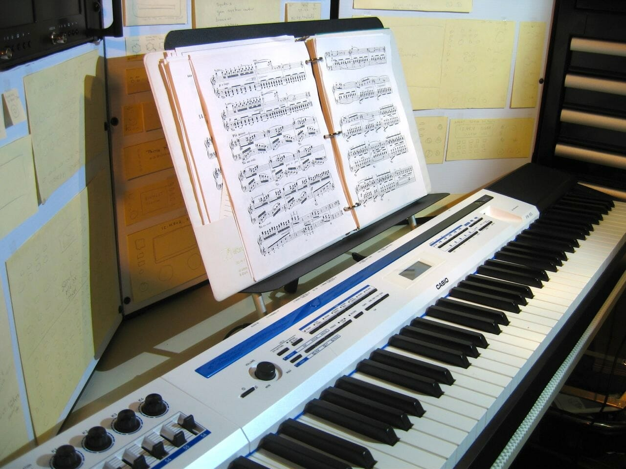 elevated music stand for casio px 5s and other digital pianos nomadic research labs. Black Bedroom Furniture Sets. Home Design Ideas