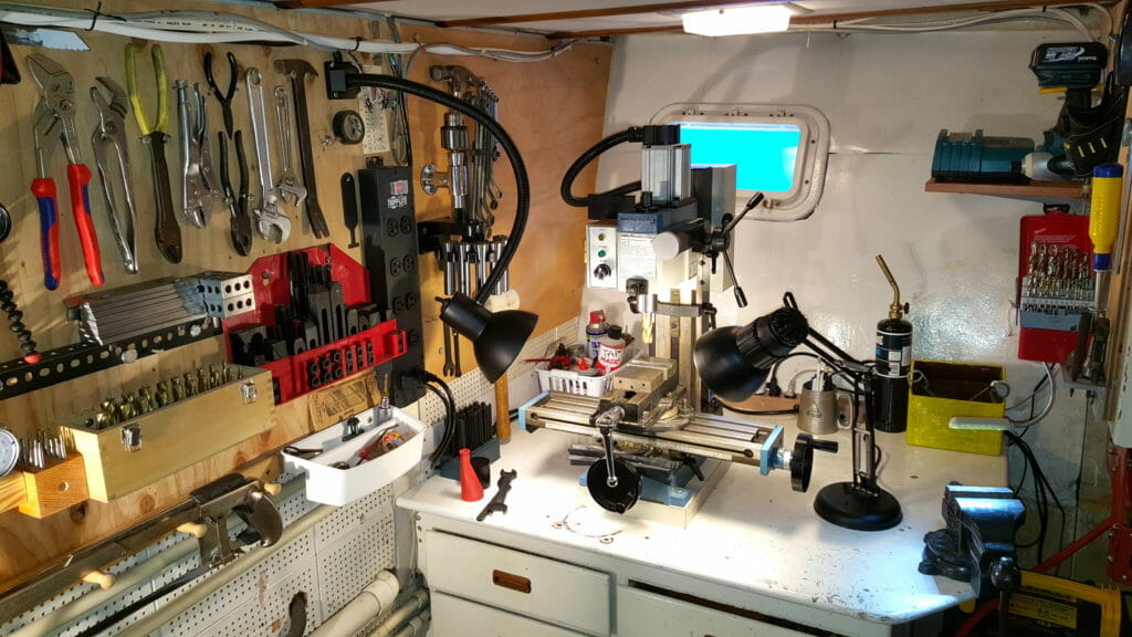 The Datawake machine shop with tool boards
