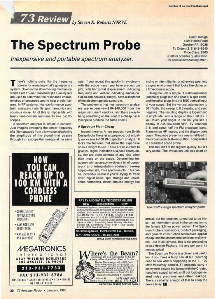 The Spectrum Probe - Nomadic Research Labs