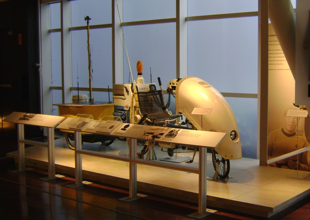the bike as part of the Revolution exhibit