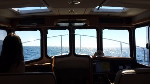In the Strait of Juan de Fuca with Rebecca aboard the Maggie E.